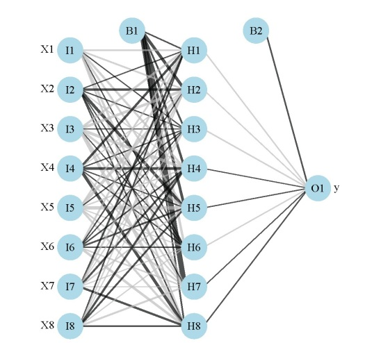 Variable importance in neural networks